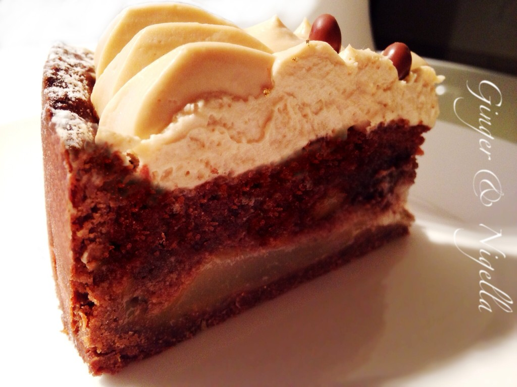 Torta cioccolato e pere,fragipane, pere, cioccolato, dulcey, namelaka, santin, aresu, torta al cioccolato