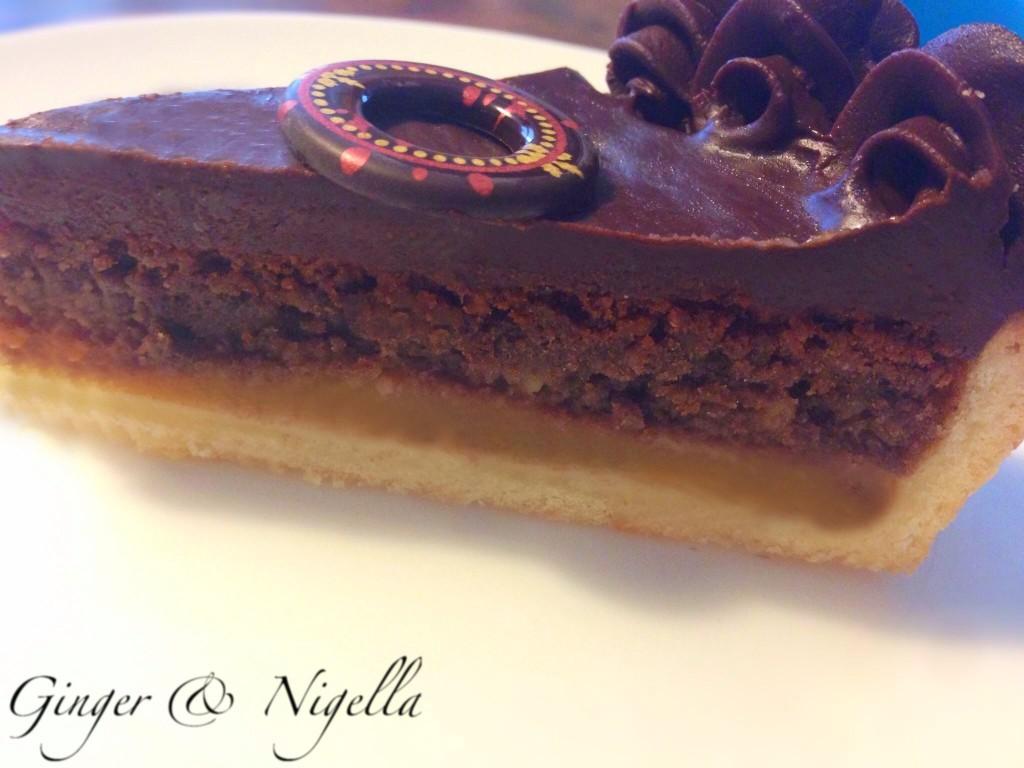Torta frangipane e cioccolato di Aresu,frangipane, aresu, cioccolato