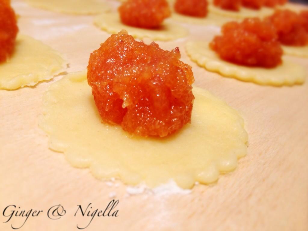 Ravioli dolci,cotognata,pie, Montersino, Massari