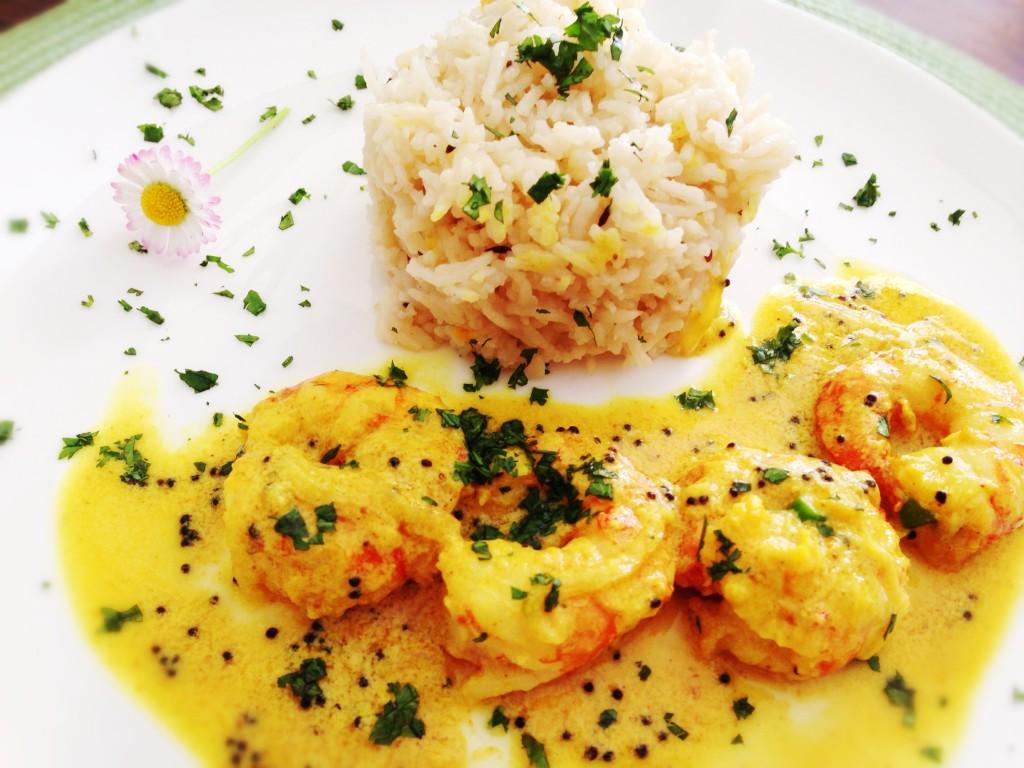 Malabar prawn curry, curry, gamberi, cucina indiana, cucina dal mondo