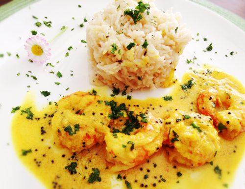 Malabar prawn curry ( Gamberi al curry)