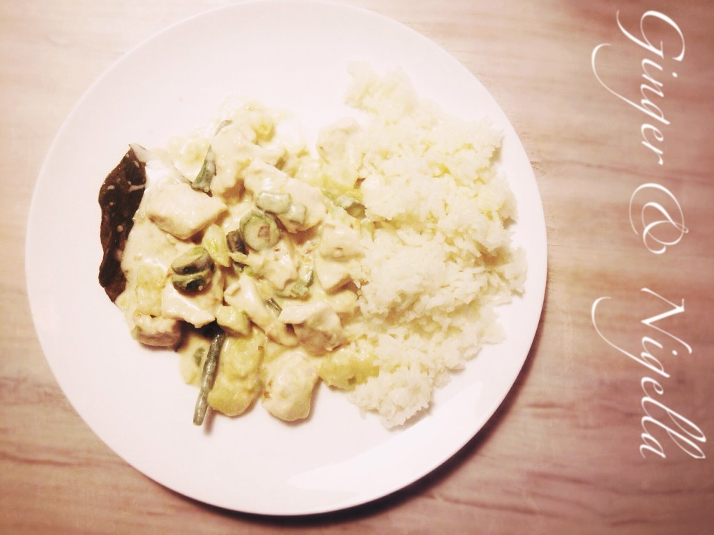 Pollo al curry verde, latte di cocco, curry verde, cucina thai, senza glutine, curry, kaffir, verdure, pollo, cucina dal mondo