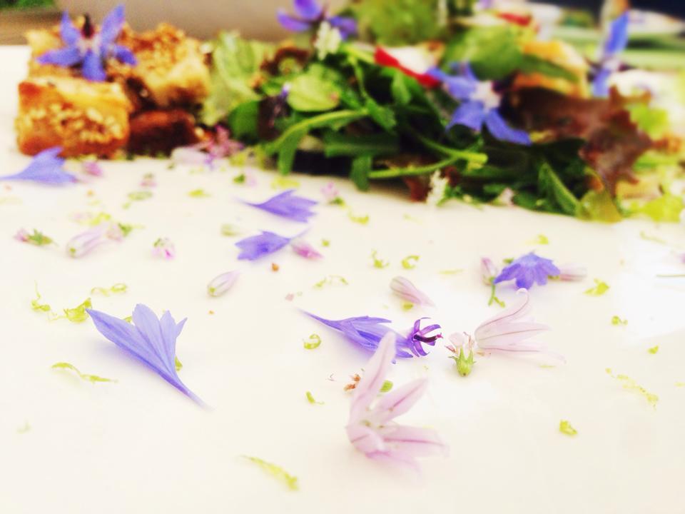 Fiori di fiordaliso e di erba cipollina (i piu' chiari)