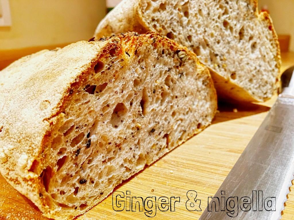 5 cereali, 7 effe, bonci, Buratto, Gabriele Bonci, Gourmet, lievitazione naturale, lievito naturale, Mulino Marino, Pane, Pane ai 5 cereali a lievitazione naturale, pane ai cinque cereali, pasta madre