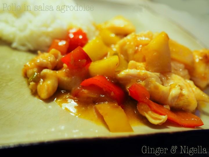 Pollo in salsa agrodolce (non fritto)