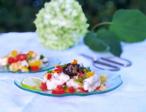 Catalana di pesce con cipolle caramellate alla soia