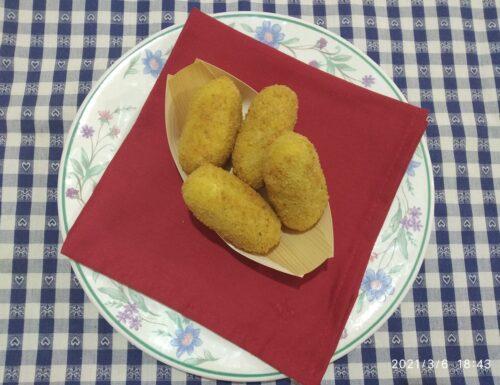 Crocchette di patate con cuore filante