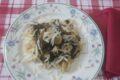 Orecchiette con erbe spontanee ( il Crespigno) e salsiccia