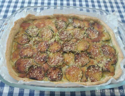 Parmigiana di zucchine in pasta briseé