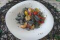 Gnocchi viola con gamberetti e pomodorini
