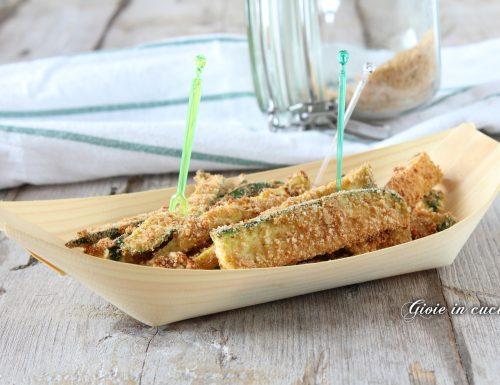 Bastoncini di zucchine gratinate al forno