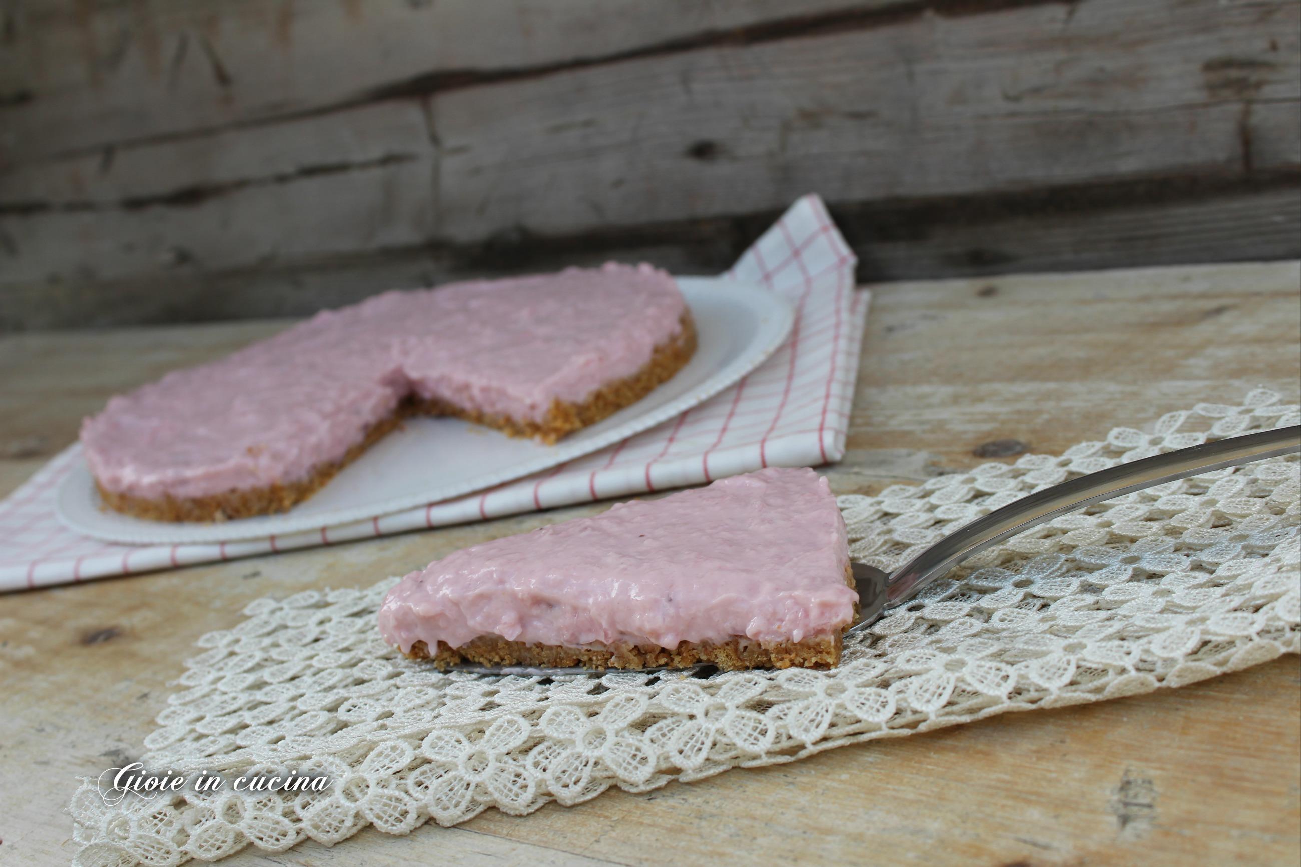 Cheesecake con yogurt alla fragola