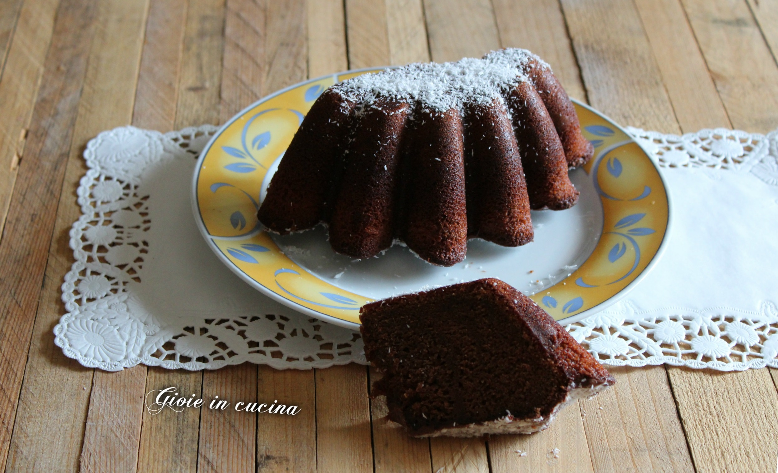 Torta budino con cocco e Nutella