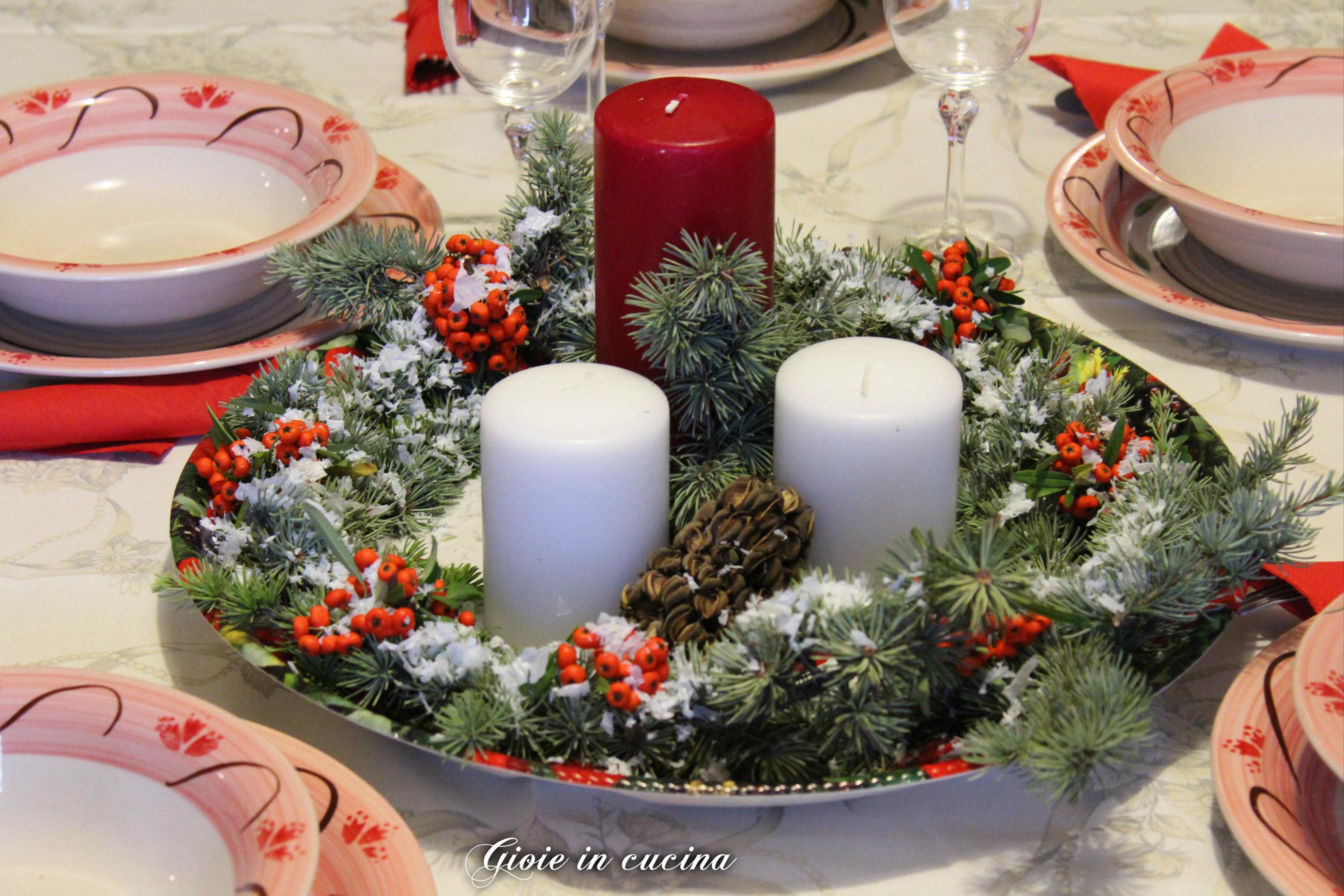 Centro tavola natalizio fai da te gioie in cucina for Idee per centrotavola di natale