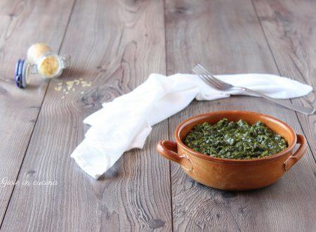 Risotto con crema agli spinaci