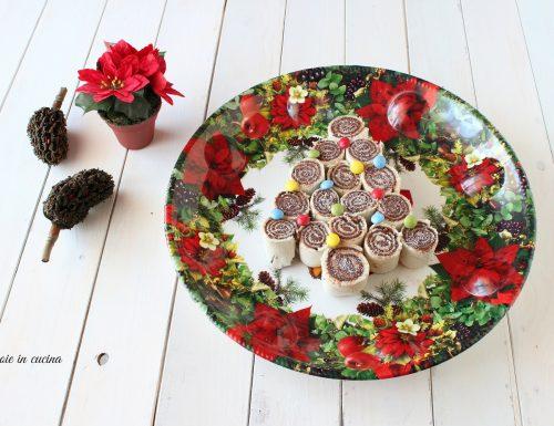 Albero di Natale con girelle alla Nutella