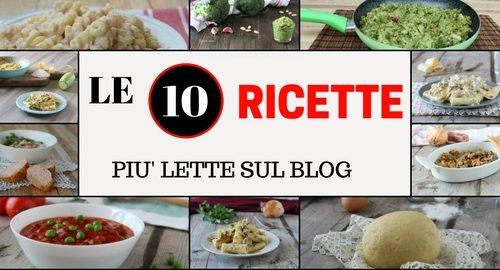 Le 10 ricette più lette