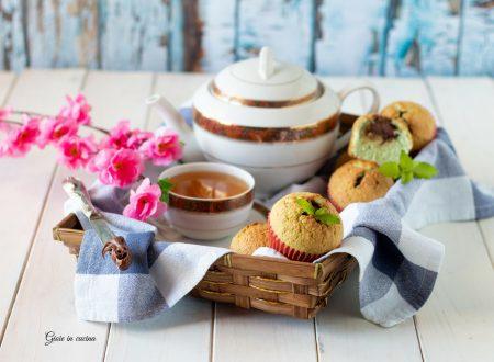 Muffin con menta, cocco e Nutella