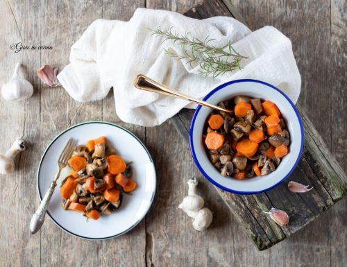 Contorno di funghi e carote al forno