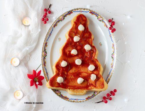 Focaccia albero di Natale