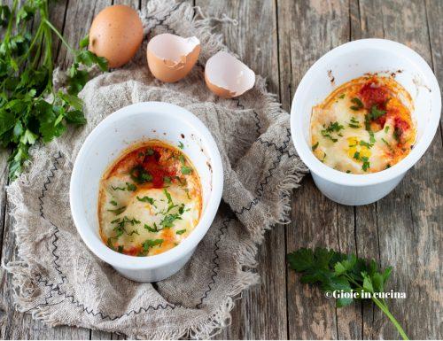 Uova al forno con sugo e mozzarella