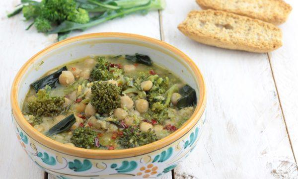 Zuppa di ceci e broccoletti, ricetta gustosa