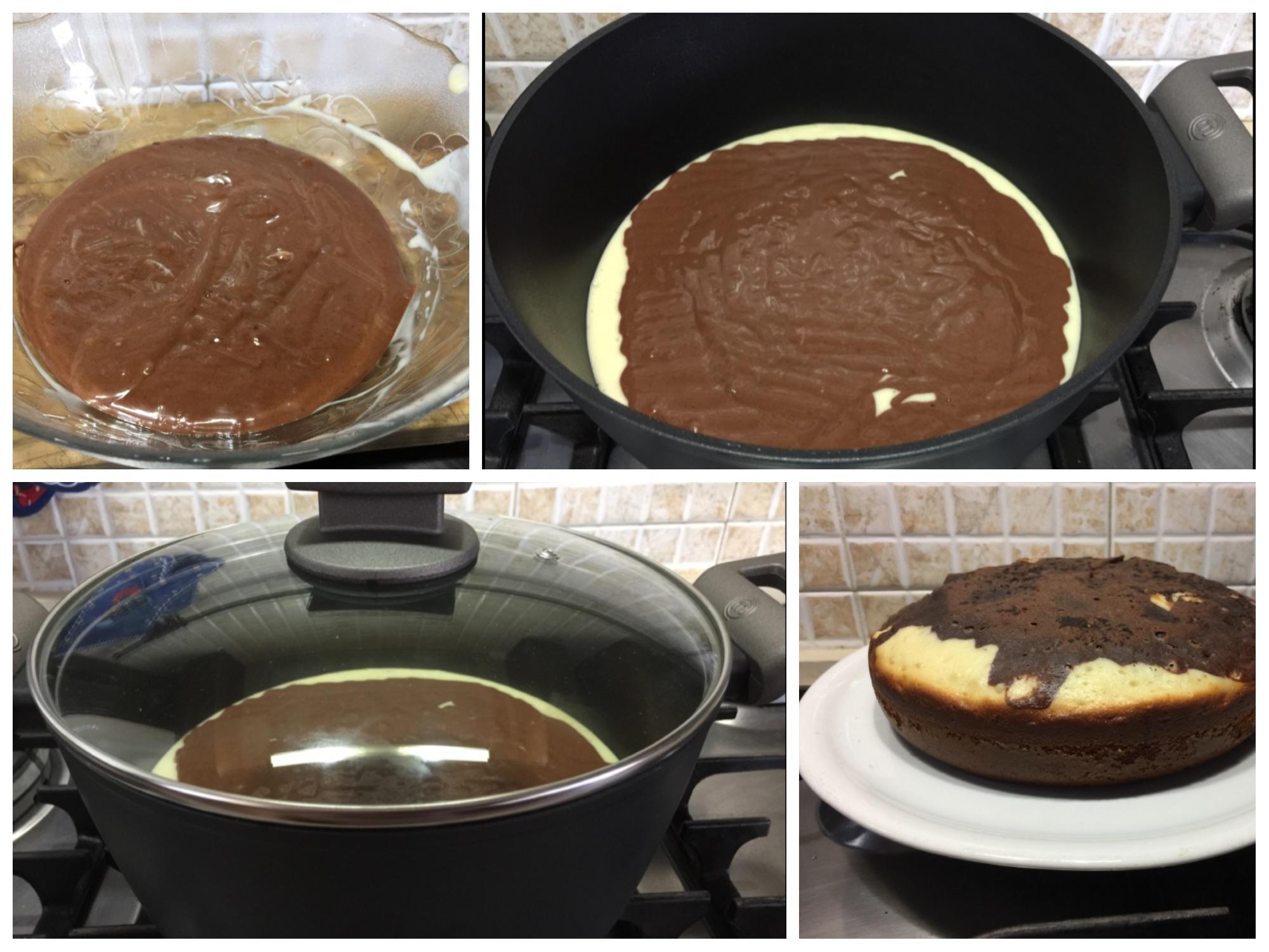 Torta soffice in padella