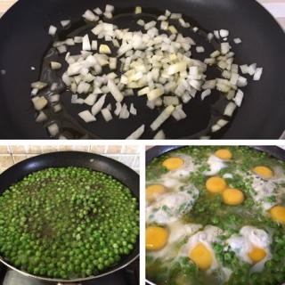 uova con piselli buonissimi
