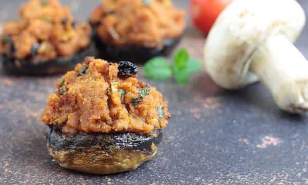 Funghi ripieni alla siciliana, ottimo antipasto