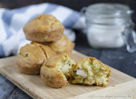 Muffin salati con zucchine e pancetta