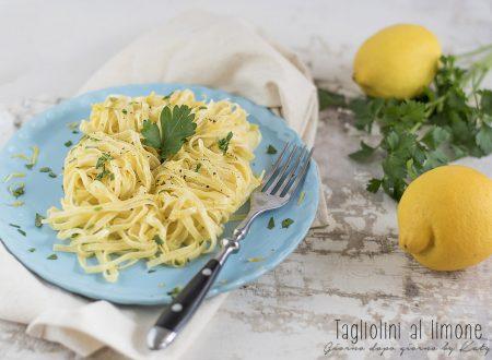 Tagliolini al limone, ricetta primo piatto