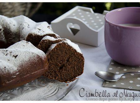 Ciambella con Nesquik, ricetta sofficissima