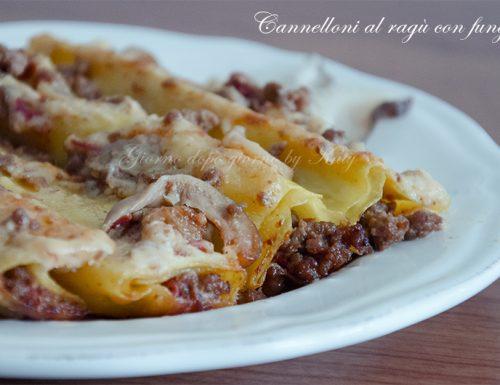 Cannelloni al ragù con funghi, ricetta primo piatto