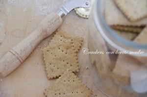 crackers integrali con lievito madre