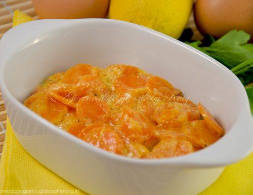 Carote con uova e limone, ricetta contorno