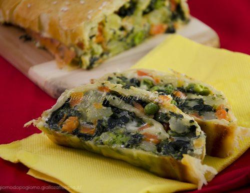 Rotolo di verdure e formaggio