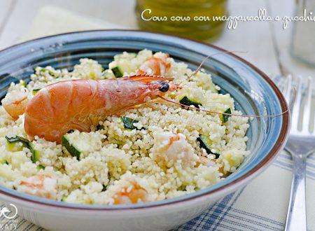 Cous cous con mazzancolle e zucchine
