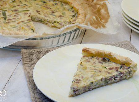 Torta salata salsiccia e zucchine