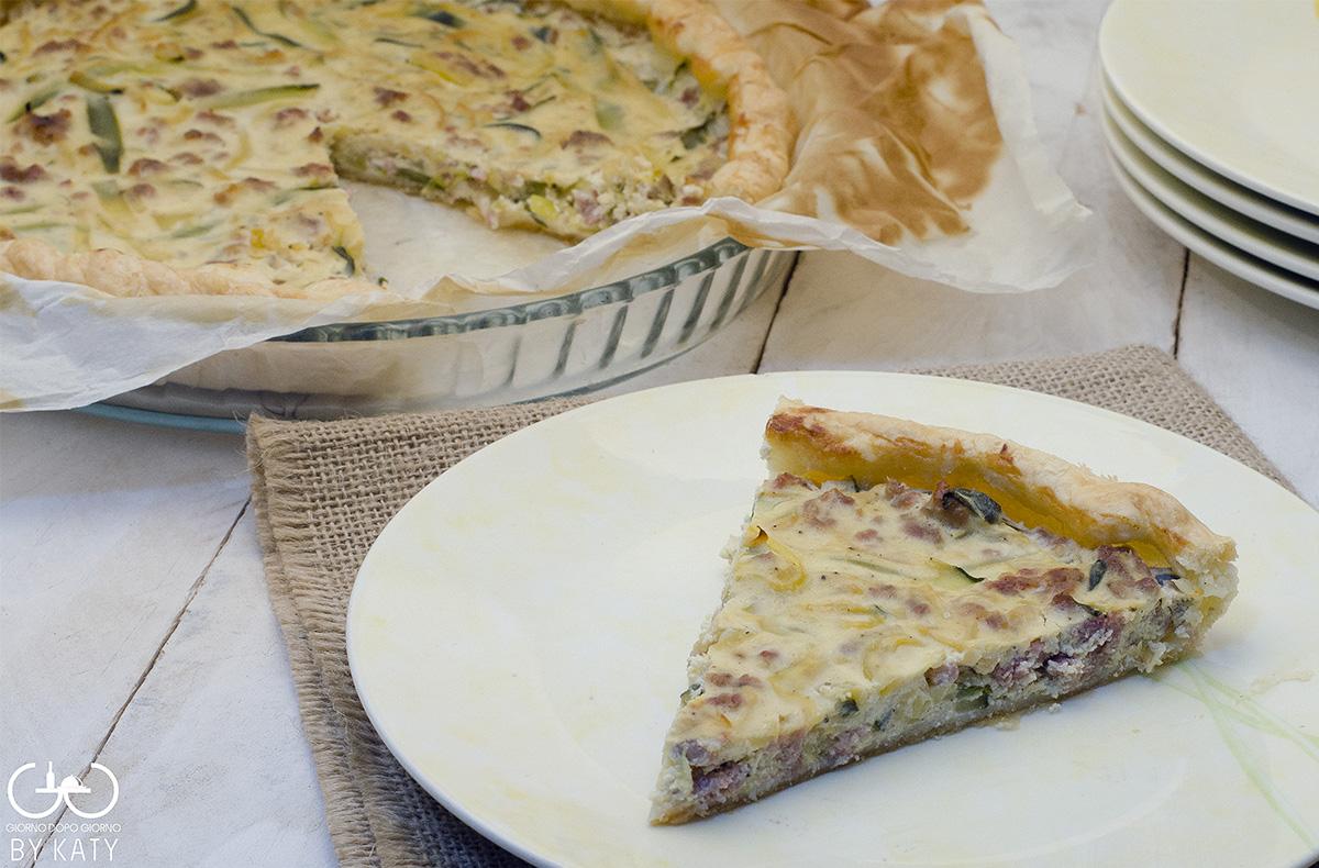 Torta salata salsiccia e zucchine | Giorno dopo giorno