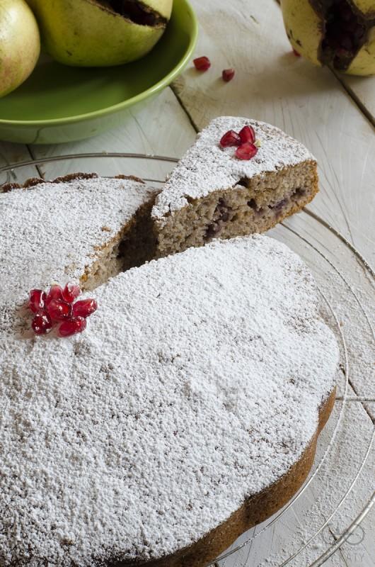 torta tenera con melagrane