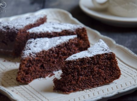 Torta al latte caldo e cacao (ricetta con Bimby e senza)