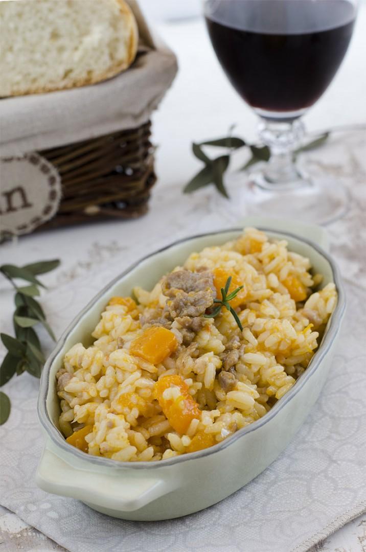risotto zucca e salsiccia primo piatto