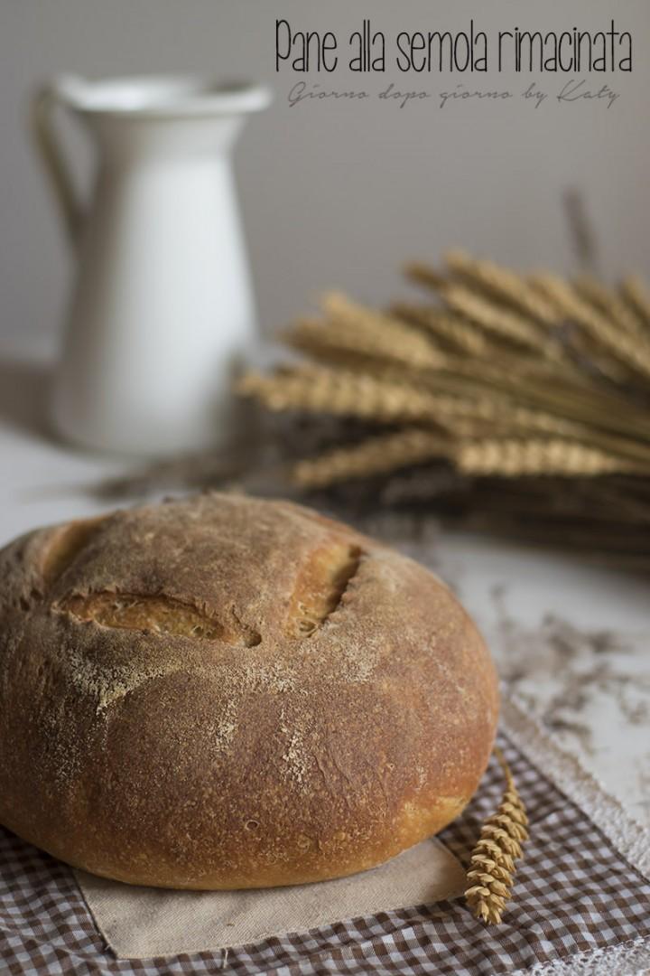 pane alla semola rimacinata, ricetta con lievitazione naturale