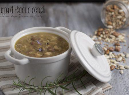 Zuppa di fagioli e cereali