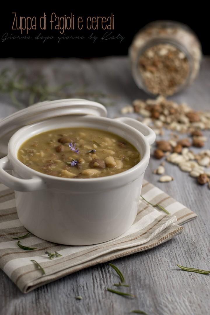 zuppa di fagioli e cereali, primo piatto o piatto unico
