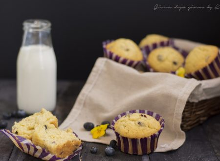Muffin panna e mirtilli