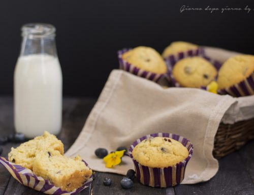 Muffin panna e mirtilli