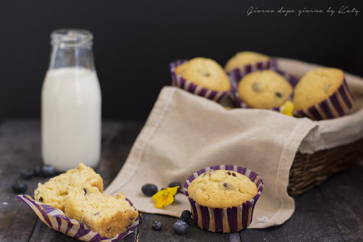 muffin panna e mirtilli ricetta dolce proposta per colazione e merenda