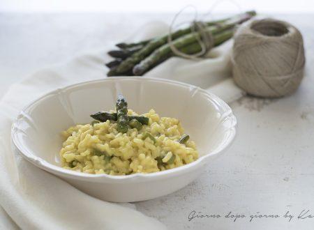 Risotto allo zafferano con asparagi