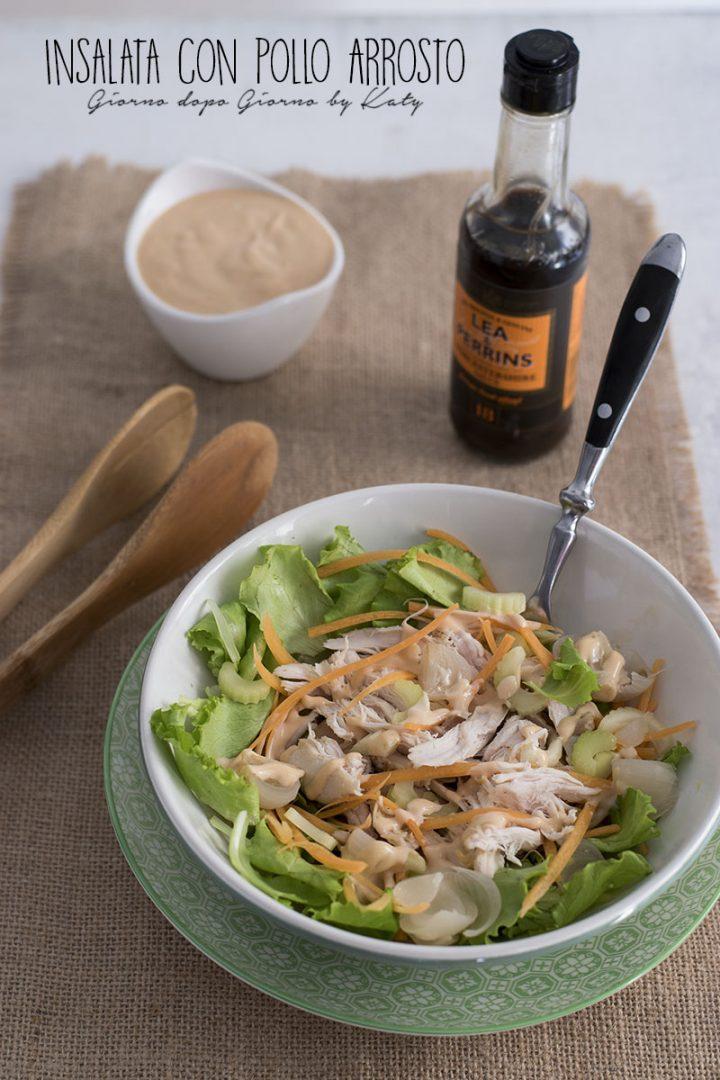 insalata con pollo arrosto ricetta fresca per riciclo